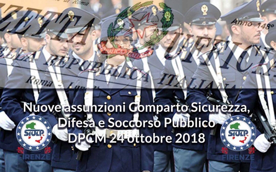 Nuove assunzioni Comparto Sicurezza, Difesa e Soccorso Pubblico