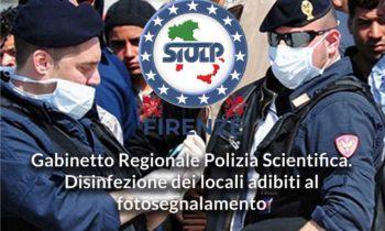 Gabinetto Regionale Polizia Scientifica: Disinfezione dei locali adibiti al fotosegnalamento.