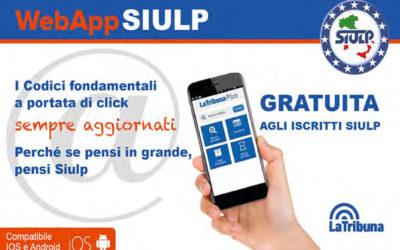 In arrivo, gratuita per gli iscritti, la WebApp SIULP