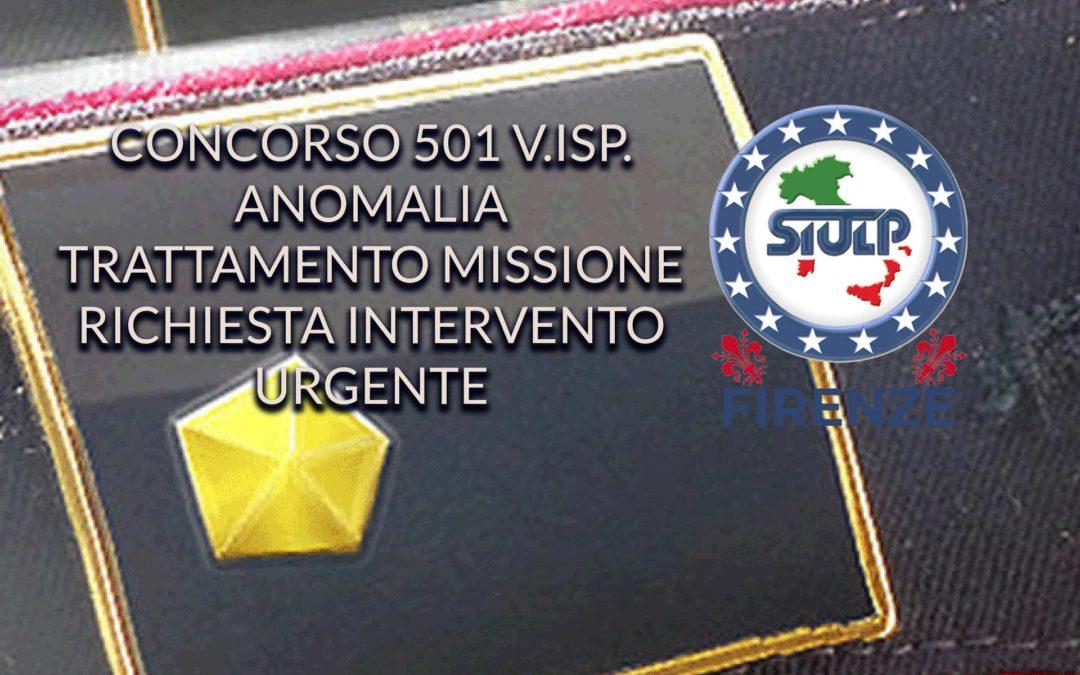 Concorso 501 V.Isp. – Anomalia trattamento missione partecipanti