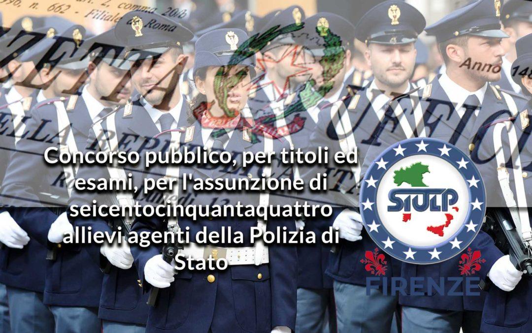 Concorso pubblico, per titoli ed esami, per l'assunzione di 654 allievi agenti della Polizia di Stato