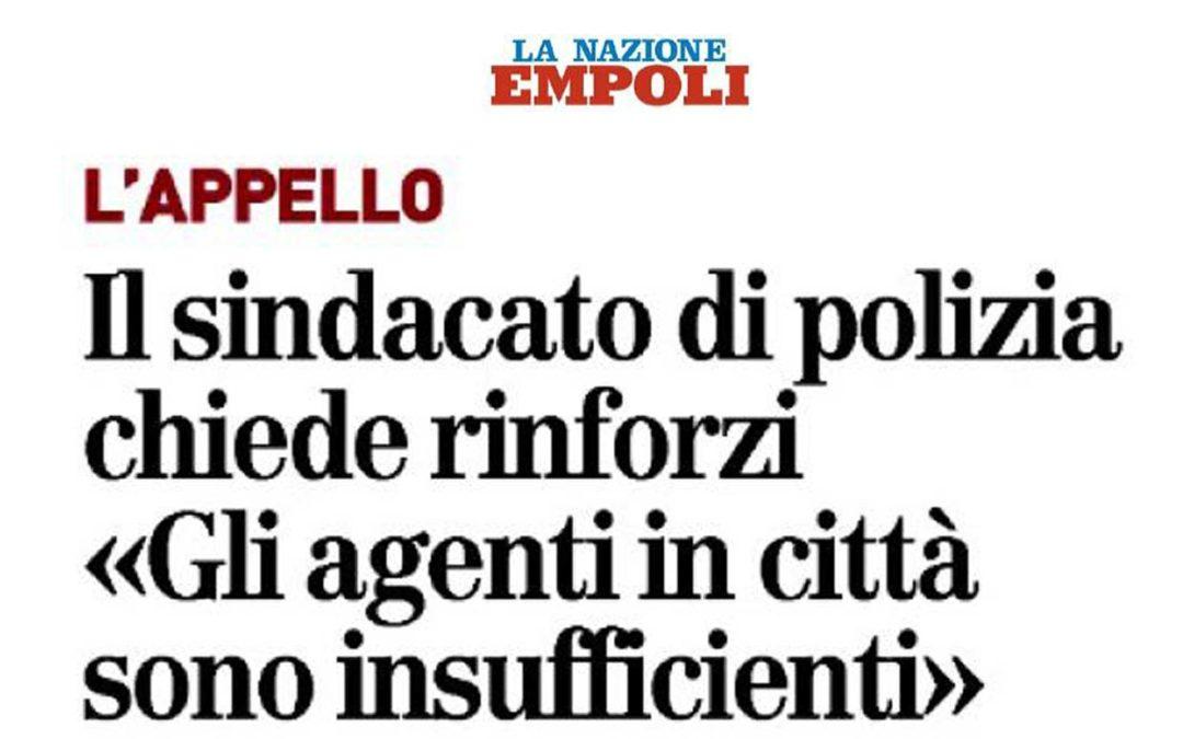 """L'appello SIULP: il Sindacato di Polizia chiede rinforzi """"Gli agenti in città sono insufficienti"""""""