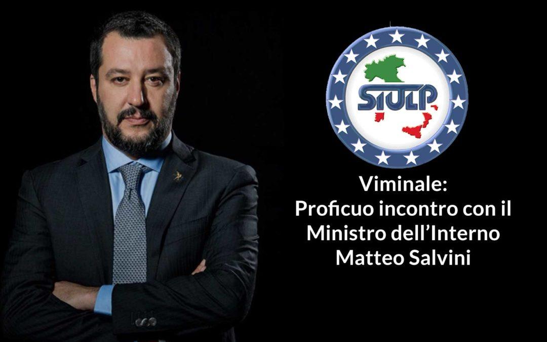 Viminale: Proficuo incontro con il Ministro dell'Interno Matteo Salvini