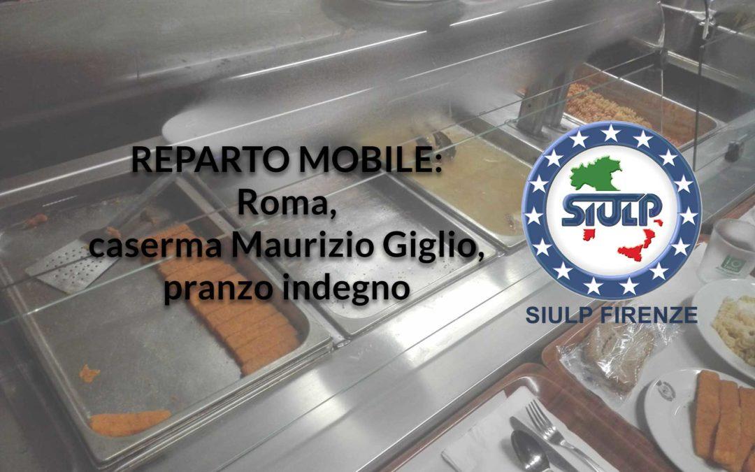 """SFS Roma: pranzo inadeguato presso la mensa della caserma """"Maurizio Giglio"""""""