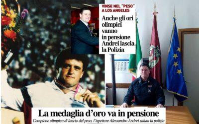 Anche gli ori olimpici vanno in pensione: Andrei lascia la Polizia