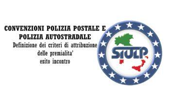 Convenzioni Polizia Postale e Polizia Autostradale: Definizione dei criteri di attribuzione delle premialita' – esito incontro