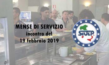 Mense di servizio: Incontro del 19 febbraio 2019