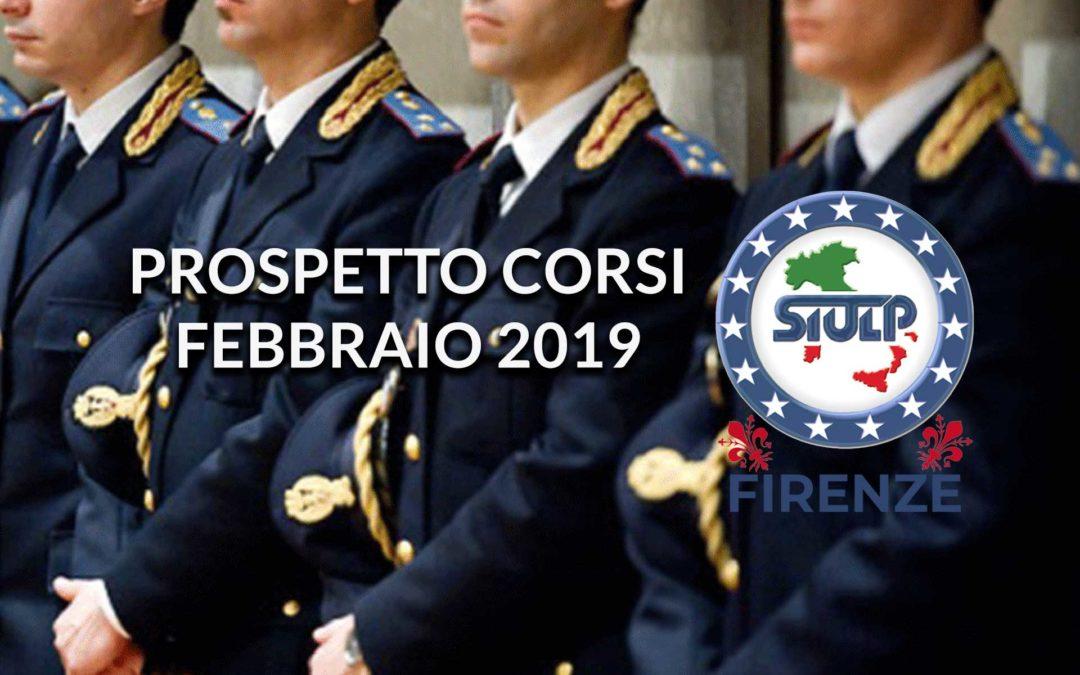 Prospetto corsi programmati ed in svolgimento – febbraio 2019