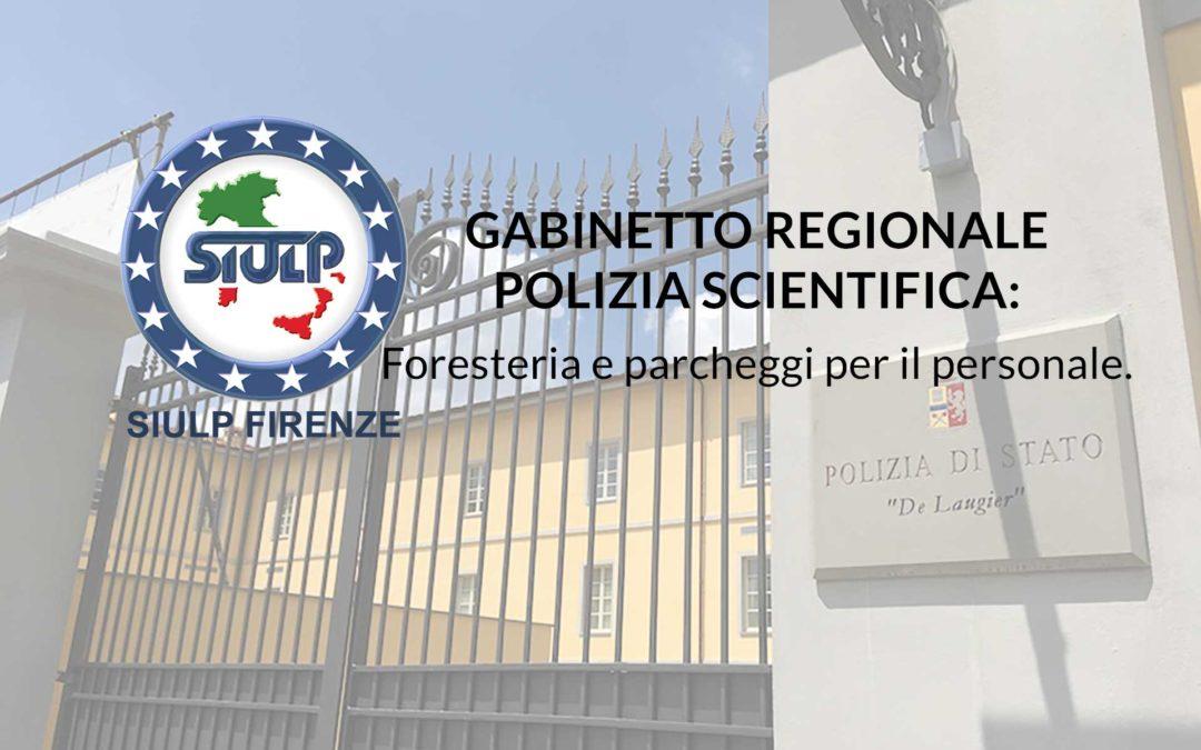 Gabinetto Regionale Polizia Scientifica. Locali foresteria e parcheggi personale.