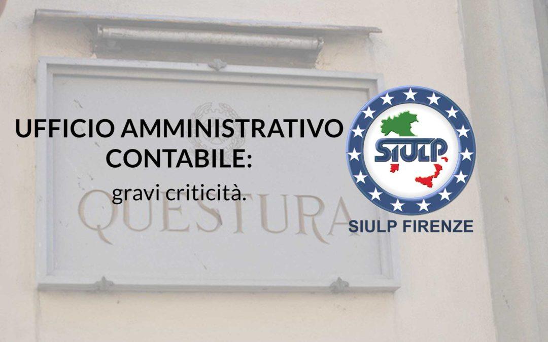 Ufficio Amministrativo Contabile: gravi criticità.