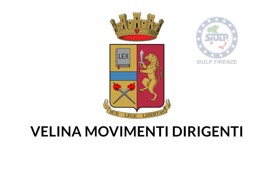 Velina movimenti Dirigenti