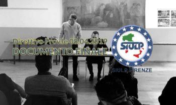 Direttivo Prov.le 08.04.2019 – Documento Finale