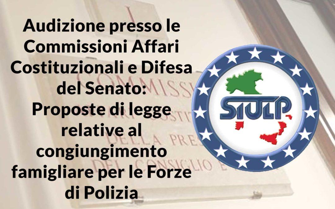 Proposte di legge relative al congiungimento famigliare per le Forze di Polizia