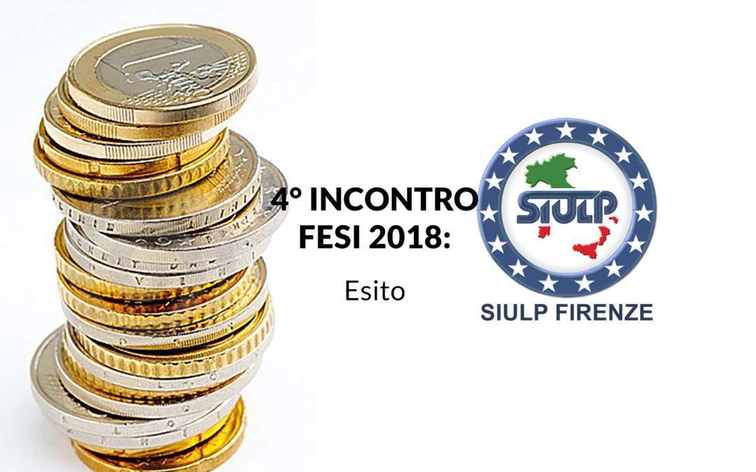 Fondo per l'efficienza dei servizi istituzionali anno 2018 – Esito 4° incontro