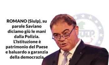 ROMANO (SIULP), su parole Saviano diciamo giù le mani dalla Polizia. L'Istituzione è patrimonio del Paese e baluardo a garanzia della democrazia.