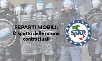 Reparti Mobili della Polizia di Stato: rispetto delle norme contrattuali.