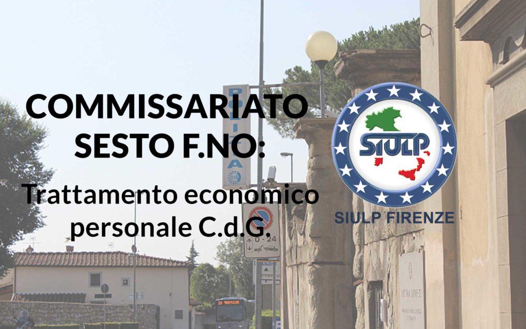 Commissariato Sesto F.no: Trattamento economico personale C.d.G.