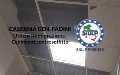 Caserma Gen. Fadini – Ufficio Immigrazione: cedimenti soffitto.