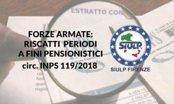 Forze Armate: riscatti periodi a fini pensionistici
