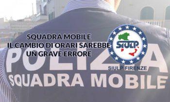 Squadra Mobile – IV Sezione: orario di servizio.