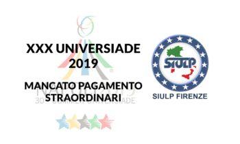 XXX Universiade Napoli – Mancato pagamento straordinario