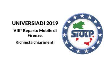 VIII° Reparto Mobile di Firenze. – Richiesta chiarimenti.
