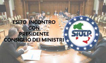 Esito incontro Presidente Consiglio dei Ministri