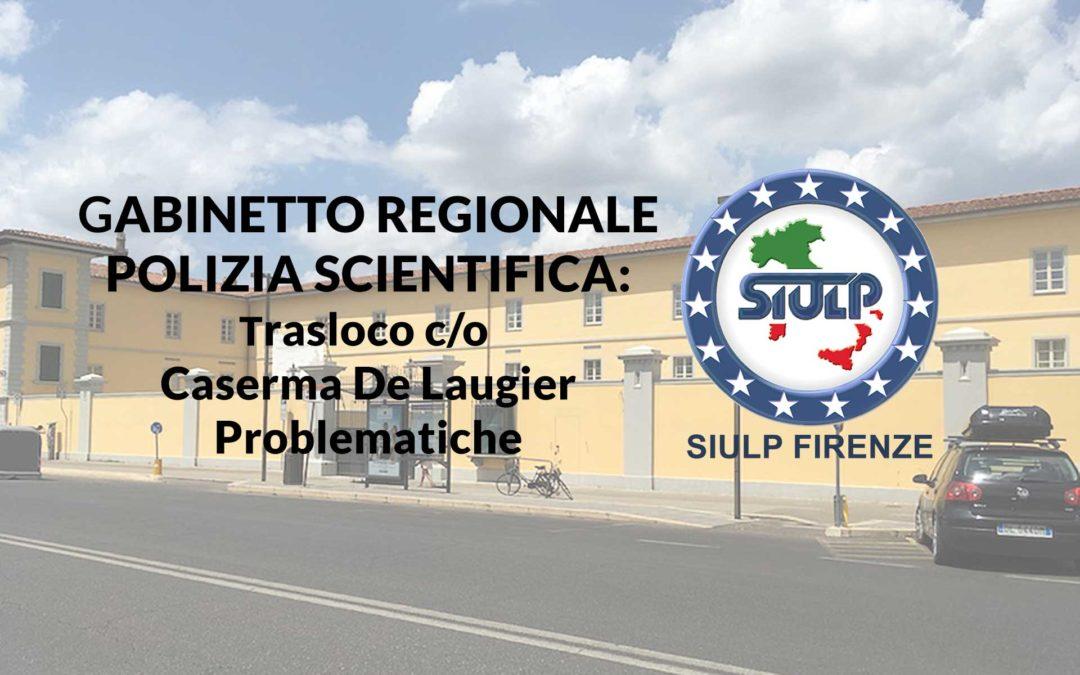 Trasferimento GRPS c/o caserma De Laugier: Problematiche squadra sopralluoghi.
