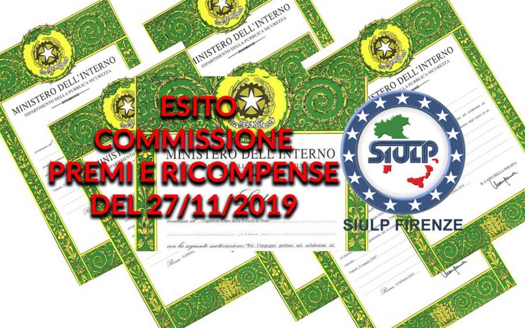 Esito riunione riconoscimenti premiali 27.11.2019