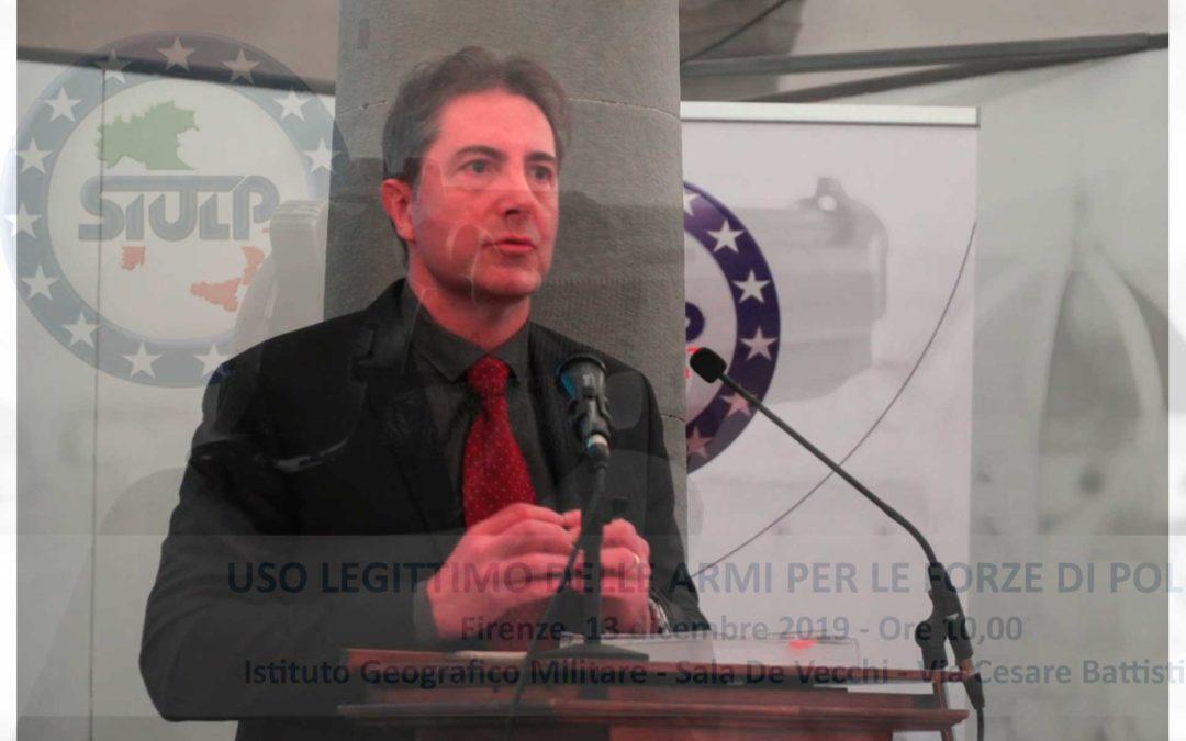 Uso legittimo delle armi – seminario formativo 13.12.2019 (intervento Armando Albano)
