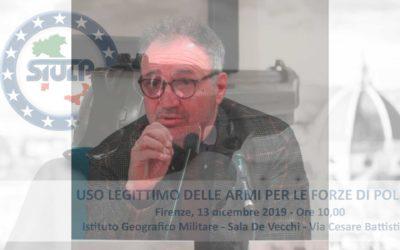 Uso legittimo delle armi – seminario formativo 13.12.2019 (intervento Avv. Federico Bagattini)