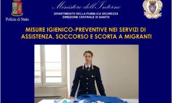 Misure igienico-preventive nei servizi di assistenza, soccorso e scorta migranti