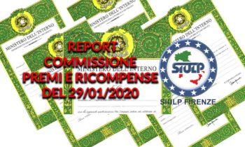 Commissione premi e ricompense del 29.01.2020 – Report riunione