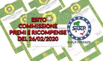 Commissione premi e ricompense del 26.02.2020 – Report riunione