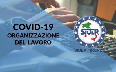 Infezione Covid-19: Organizzazione del lavoro.
