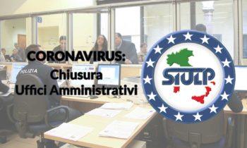 Coronavirus: chiusura uffici amministrativi.