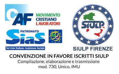 Convenzione CAF MCL in favore iscritti SIULP