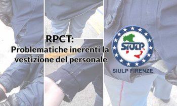 Reparto Prevenzione Crimine Toscana: Problematiche inerenti la vestizione del personale