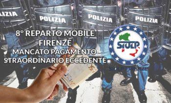 8° Reparto Mobile Firenze – Mancato pagamento straordinario eccedente