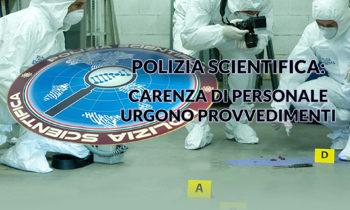 Gabinetto Regionale Polizia Scientifica: carenza di personale.