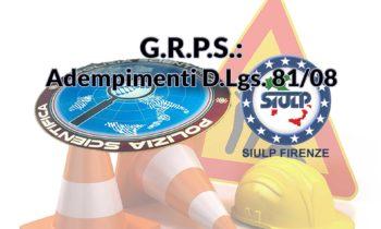 G.R.P.S. – Adempimenti D.Lgs. 81/08