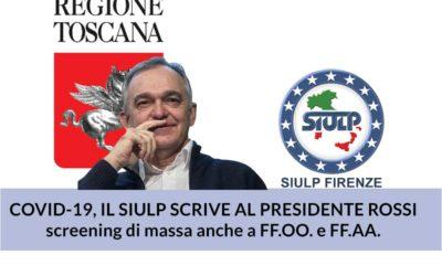 Covid-19: il SIULP scrive al Presidente la Regione Toscana