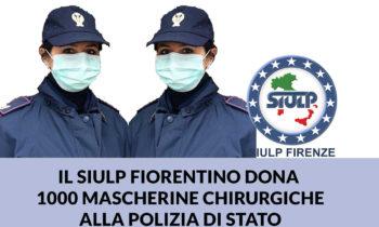 Emergenza Coronavirus: il SIULP dona 1000 mascherine alla Polizia di Stato