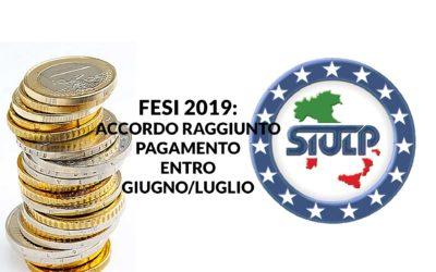 FESI 2019 – Accordo raggiunto su medesimi precedenti istituti.