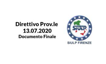 Direttivo Prov.le 13.07.2020 – Documento Finale