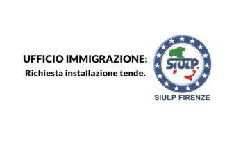 Ufficio Immigrazione: richiesta installazione tende.