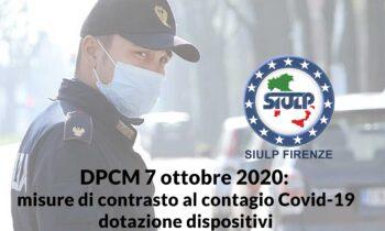 DPCM 7 ottobre 2020: misure di contrasto al contagio Covid-19