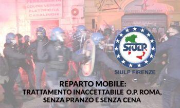 Reparto Mobile: OP Roma. Iniquo trattamento del personale.